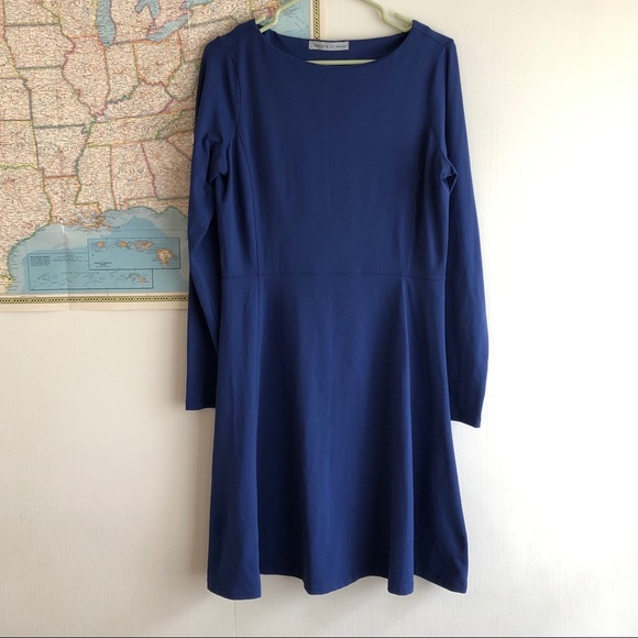 Athleta Dresses & Skirts - Athleta Blue Dress Long Sleeve Size MEDIUM TALL